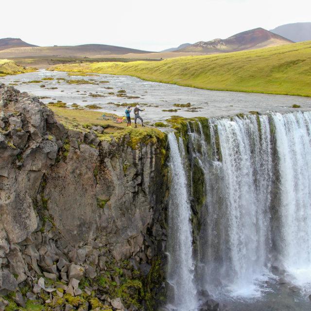 secret waterfall iceland nature