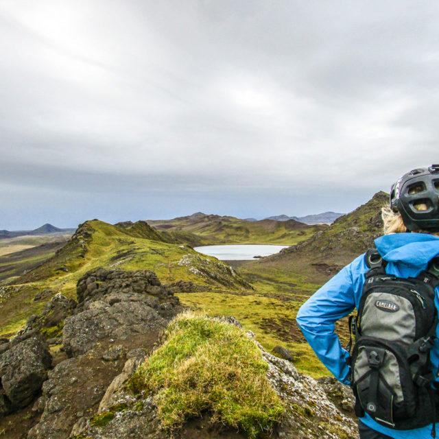heli biking views landscape for an extreme trip