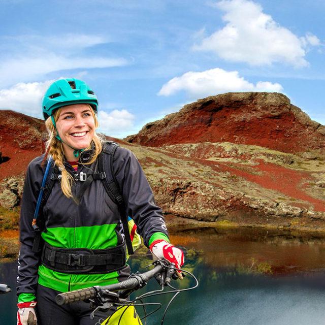 volcanic lava mountain bike tour