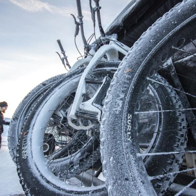 frost and cold on fatbike
