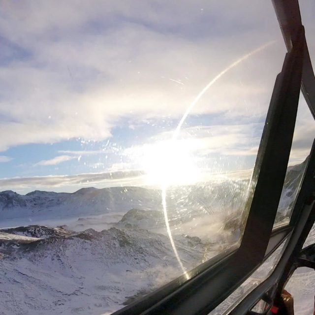 A-star helicopter view in winter