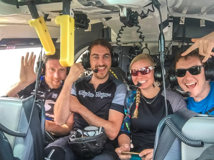smiles in helicopter
