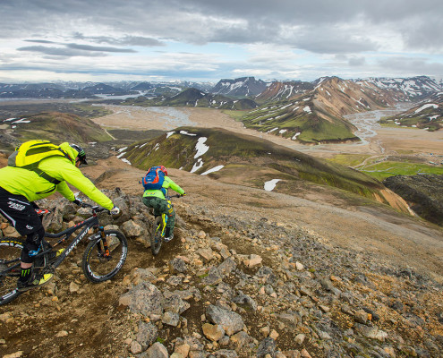 biking in landmannalaugar