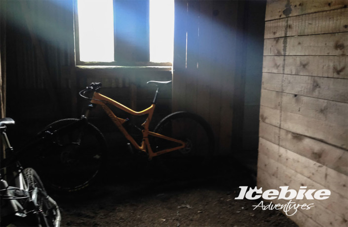 bike in a dark hut