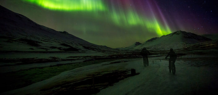 northen lights fatbiking